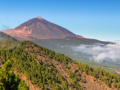 Blick auf den Pico del Teide und das Orotava-Tal