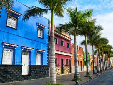 Straße in Puerto de la Cruz