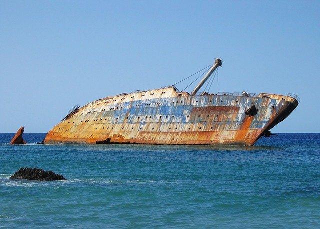 Schiffswrack auf den Kanarischen Inseln